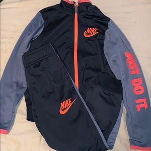 Little boys Nike track suit